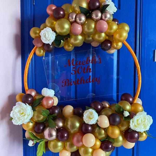 Bespoke Autumnal Balloon Hoop delivered Ireland