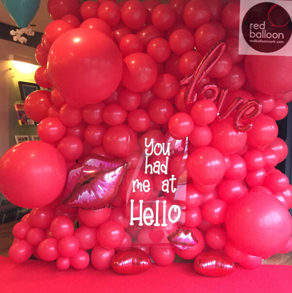 Balloon Wall 1 Red Balloon Cork Balloons Delivered