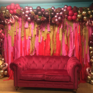 Balloon Wall Special Backdrop POA Red Balloon Cork Balloons Delivered