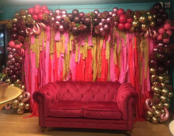 Balloon Wall Special Backdrop POA Red Balloon Cork Balloons Delivered