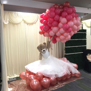 Bespoke Bear POA Red Balloon Cork Balloons Delivered