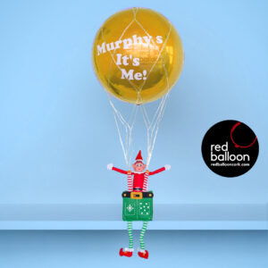 Elf on the Shelf Balloon Delivered Gold