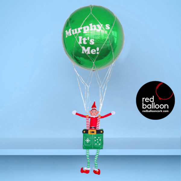 Elf on the Shelf Balloon Delivered Green