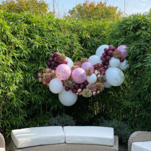Pinks Burgandy Gold Medium 5ft Glamorous Garland Balloons Red Balloon Cork