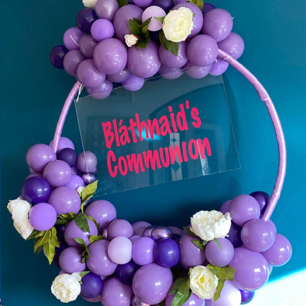 Pretty Purple Balloon Hoop Delivered Ireland