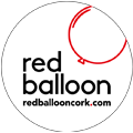 Red Balloon Cork Balloon Delivery Logo w