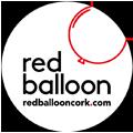 Red Balloon Cork Balloon Delivery Logo w