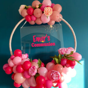 Rich Pink Balloon Hoop Delivered Ireland