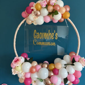 Warm Pink Balloon Hoop Delivered Ireland 2