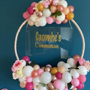 Warm Pink Balloon Hoop Delivered Ireland 2