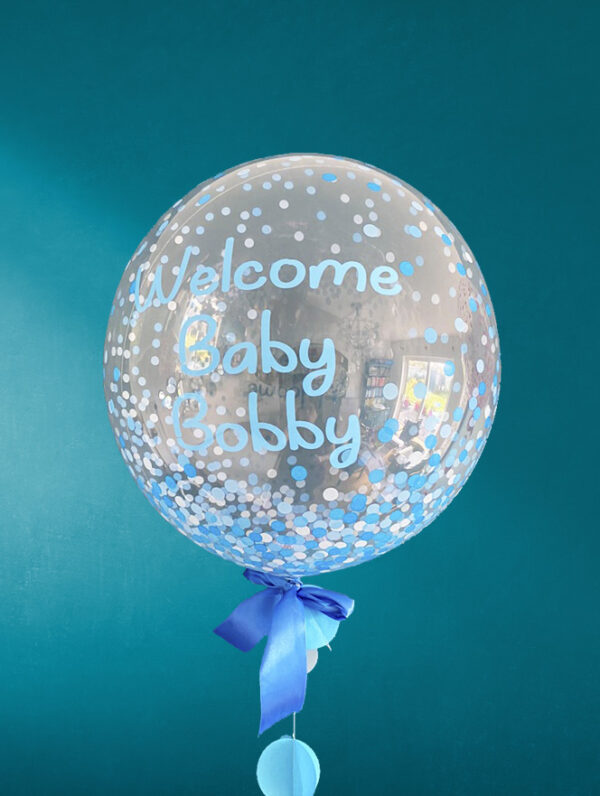 Baby Boy Balloon Blue Dots Delivered Ireland