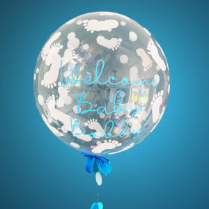 Welcome Baby Boy Balloon Delivered White Feet