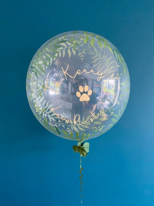 leaf motif balloon delivered