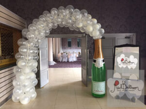 Champagne Bottle Bubbly Wedding Arch W101