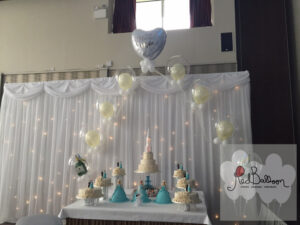 Floating Wedding Balloon Cake Arch W103