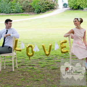 Love Balloon Wedding Bunting Chair W107