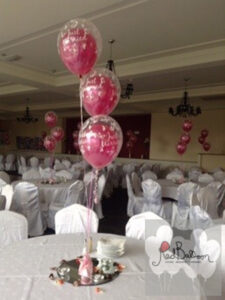 Pink And White Wedding Table Centrepieces W112