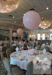 Pink Wedding Balloon Table Centrepiece W114