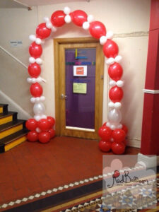Red And White Decoarive Office Arch M126