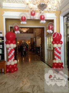 Red And White Pillar M127