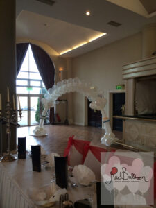 Wedding Arrival White Balloon Arch W116