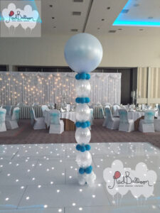 Wedding Pillar Blue And White W119
