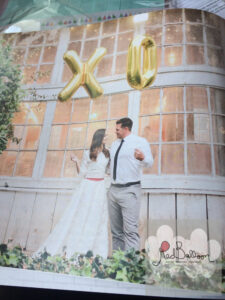 X and O Wedding Balloons W123