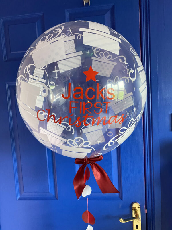 First Christmas Balloon Delivered Red Balloon Cork