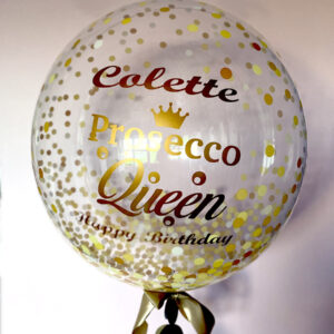 Prosecco Queen Balloon Delivered Ireland Red Balloon Cork
