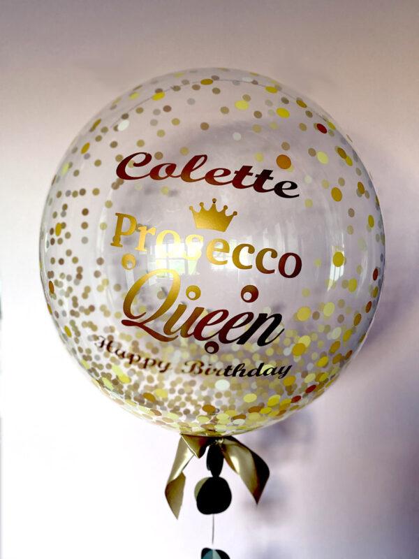 Prosecco Queen Balloon Delivered Ireland Red Balloon Cork